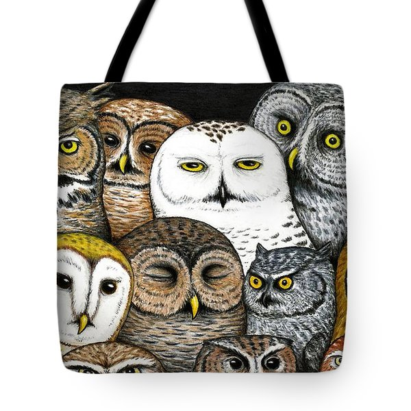 Who's Hoo Tote Bag by Don McMahon
