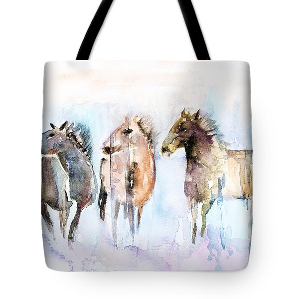 Wild And Free Tote Bag by Arline Wagner
