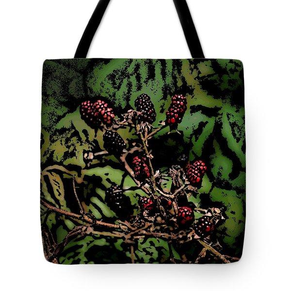 Wild Berries Tote Bag by David Lane