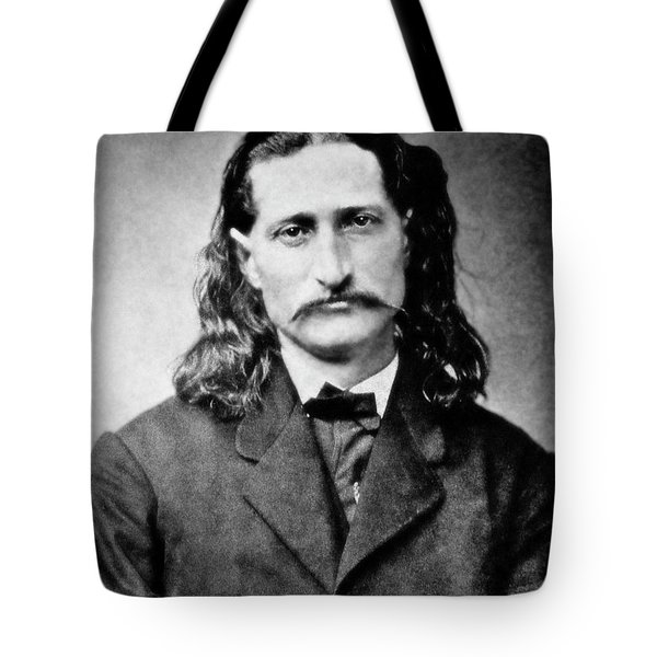 WILD BILL HICKOK - AMERICAN GUNFIGHTER LEGEND Tote Bag by Daniel Hagerman