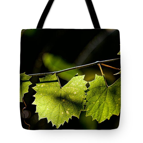 Wild Grape Leaves Tote Bag by Christopher Holmes