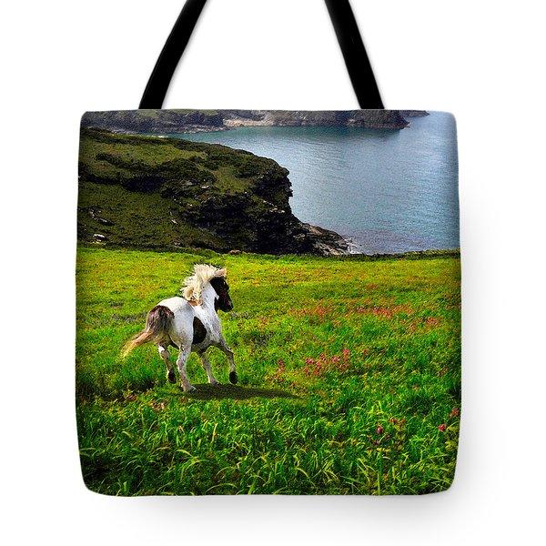 Wild Little Pony Tote Bag by Vicki Lea Eggen