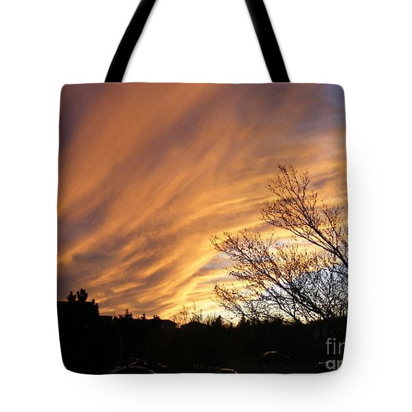 Wild Sky Of Autumn Tote Bag by Barbara Griffin