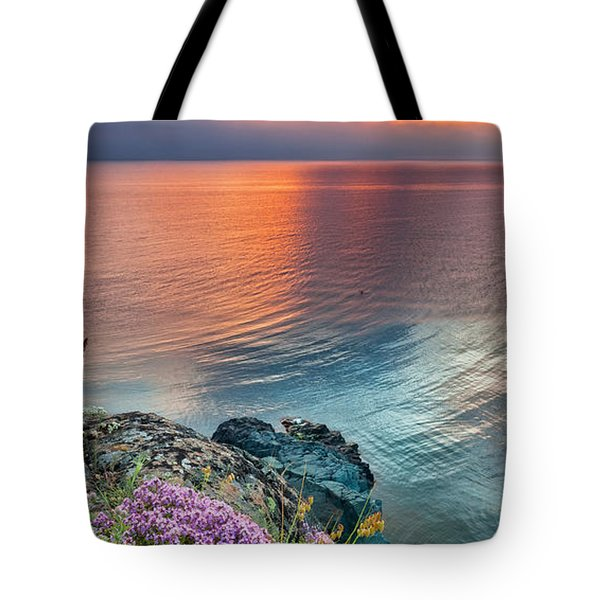 Wild Thyme By The Sea Tote Bag by Evgeni Dinev