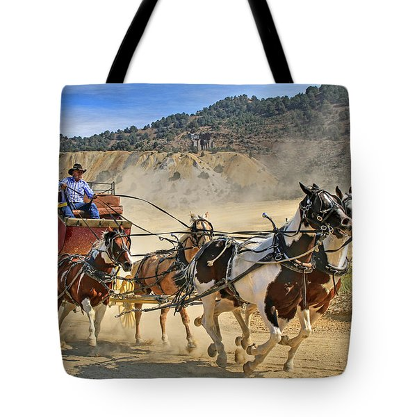 Wild West Ride Tote Bag by Donna Kennedy
