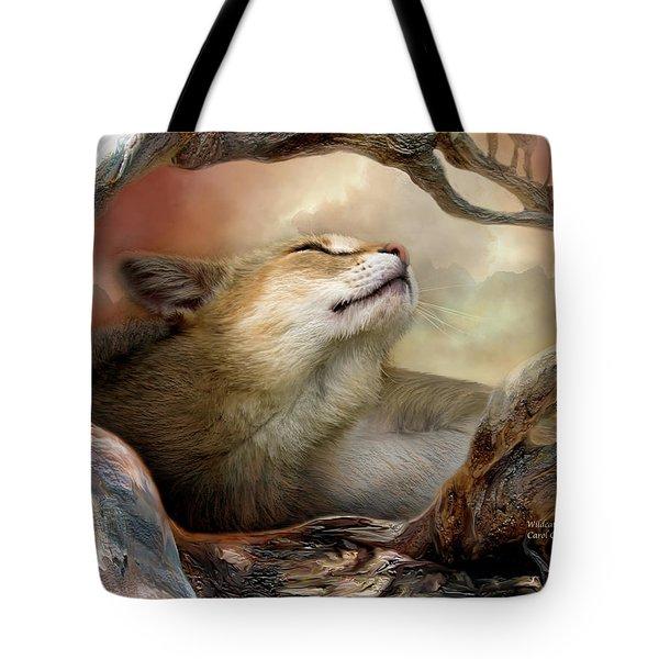 Wildcat Sunrise Tote Bag by Carol Cavalaris