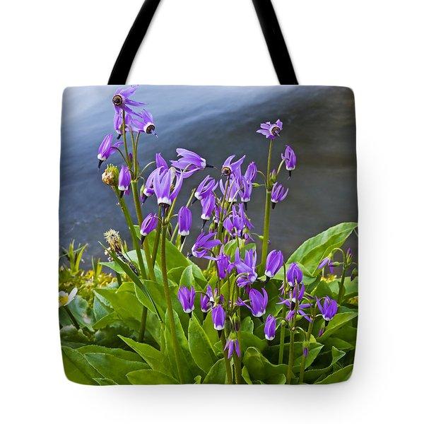 Wildflower Cascade Tote Bag by Mike  Dawson
