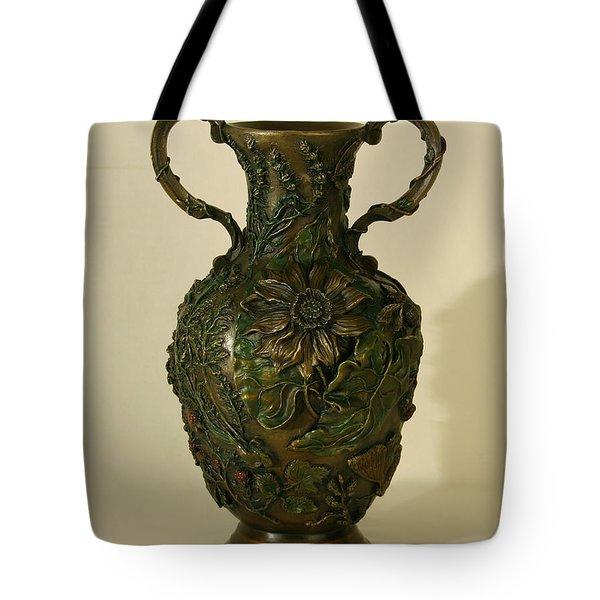 Wildflower Vase Balsamroot Side Tote Bag by Dawn Senior-Trask