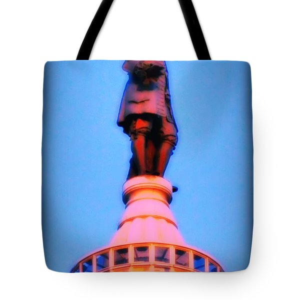 William Penn - City Hall in Philadelphia Tote Bag by Bill Cannon