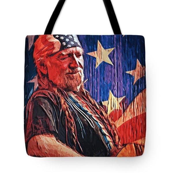 Willie Nelson Tote Bag by Taylan Apukovska