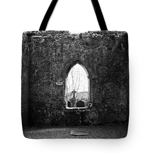Window at Fuerty Church Roscommon Ireland Tote Bag by Teresa Mucha