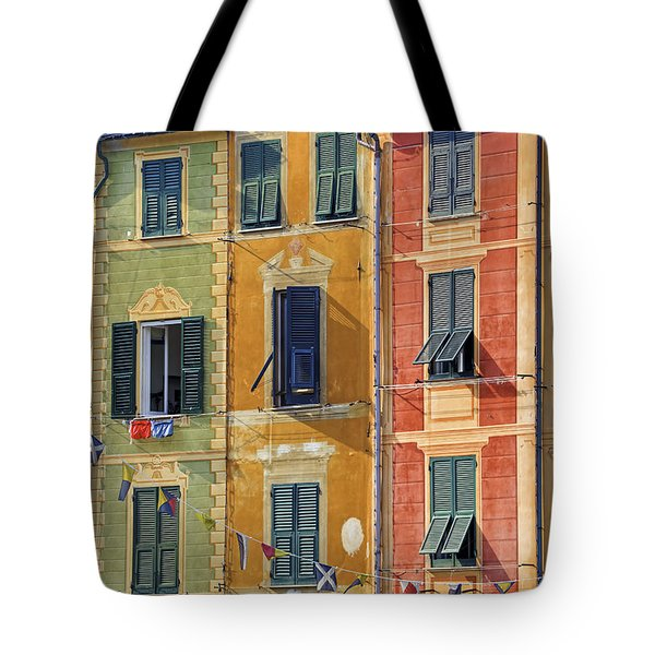 Windows Of Portofino Tote Bag by Joana Kruse