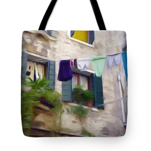 Windows Of Venice Tote Bag by Jeff Kolker
