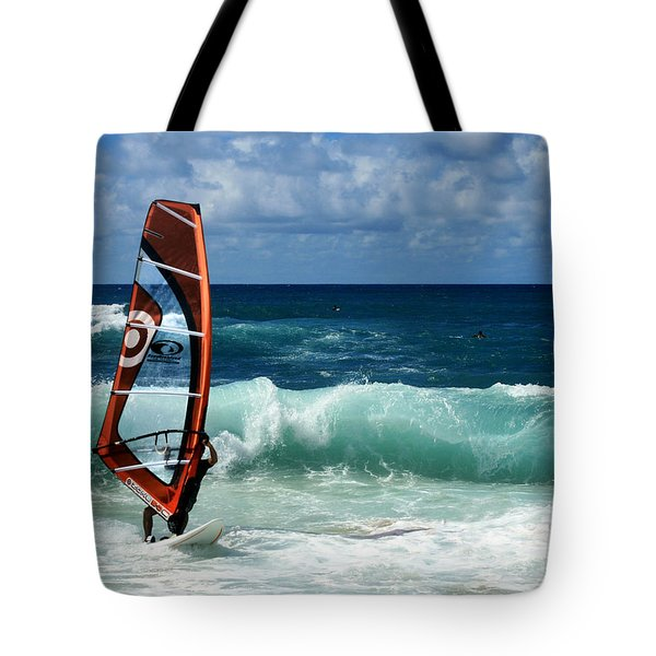 Windsurfing Hookipa Tote Bag by Sharon Mau