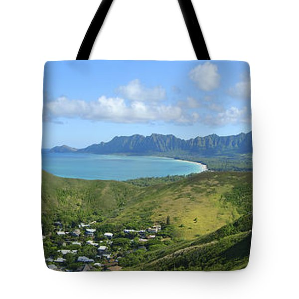 Windward Oahu Panorama III Tote Bag by David Cornwell/First Light Pictures, Inc - Printscapes
