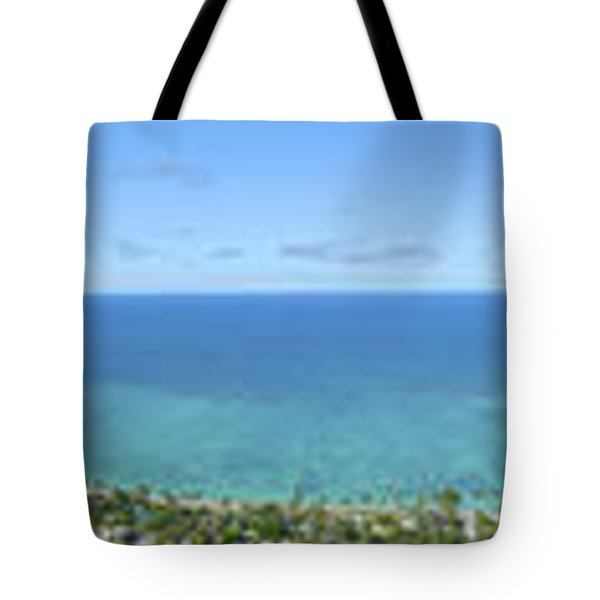 Windward Oahu Panoramic Tote Bag by David Cornwell/First Light Pictures, Inc - Printscapes