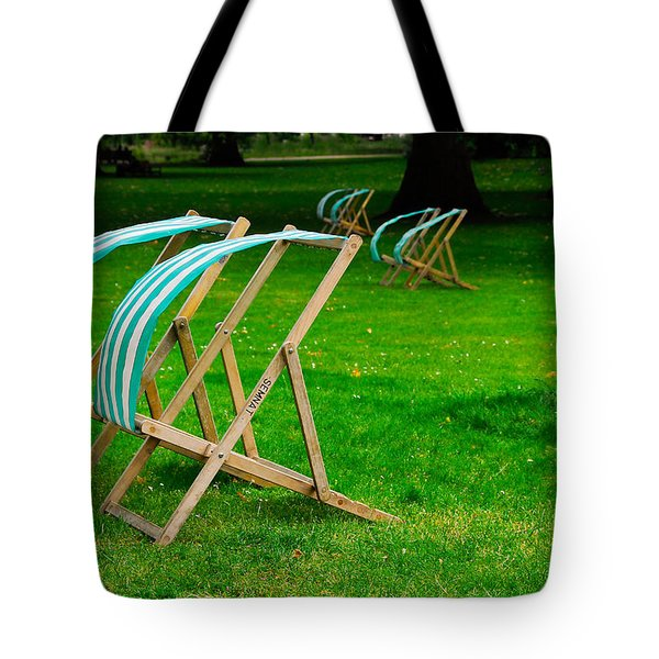 Windy Chairs Tote Bag by Harry Spitz
