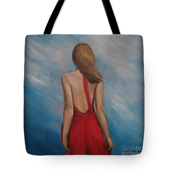 Windy Day Tote Bag by Jindra Noewi