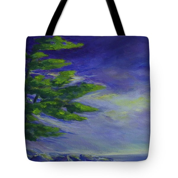 Windy Lake Superior Tote Bag by Joanne Smoley