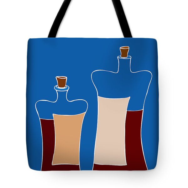 Wine Bottles Tote Bag by Frank Tschakert
