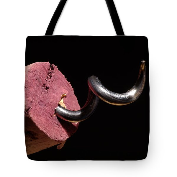Wine Cork And Cork Screw Tote Bag by Frank Tschakert