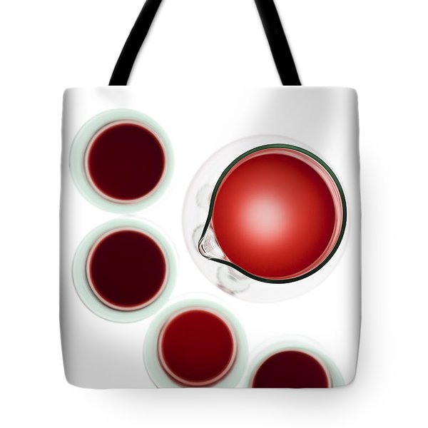 Wine Decanter And Glasses Tote Bag by Frank Tschakert