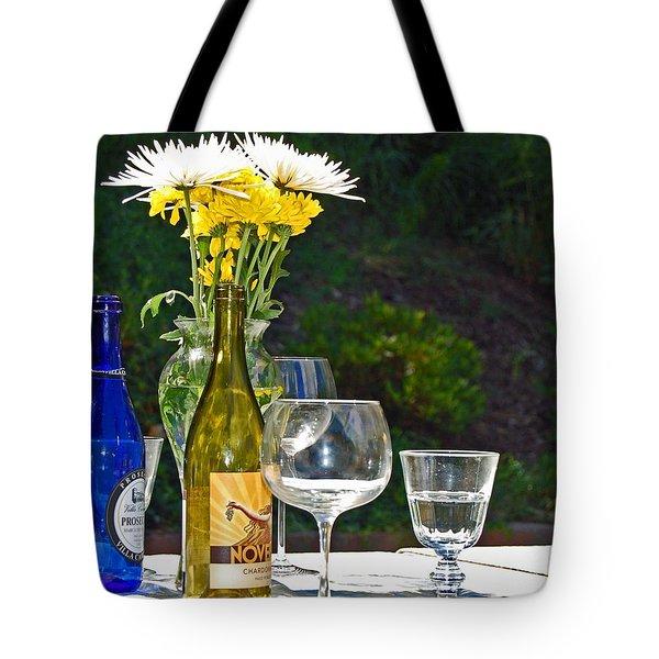 Wine Me Up Tote Bag by Debbi Granruth