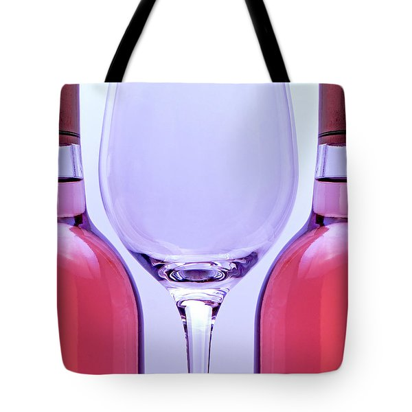 Wineglass and Bottles Tote Bag by Tom Mc Nemar