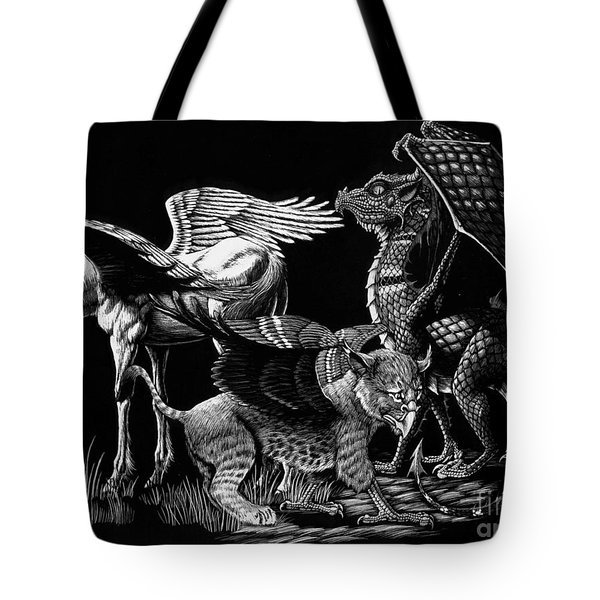 Winged Hatchlings Tote Bag by Stanley Morrison