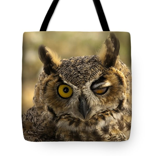 Wink Tote Bag by Mike  Dawson