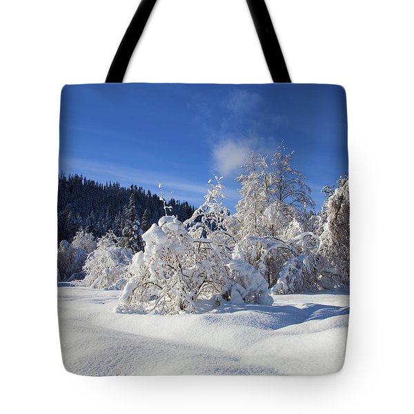 Winter Blanket Tote Bag by Mike  Dawson