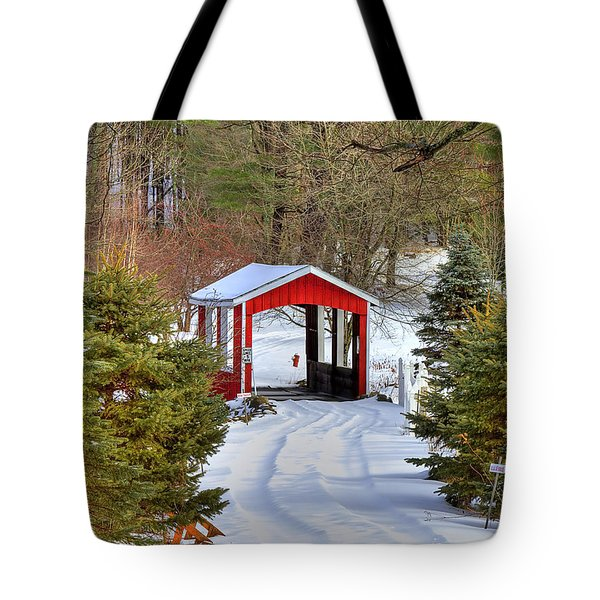 Winter Crossing Tote Bag by Evelina Kremsdorf