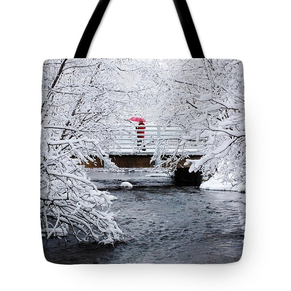 Winter Crossing Tote Bag by Ron Day