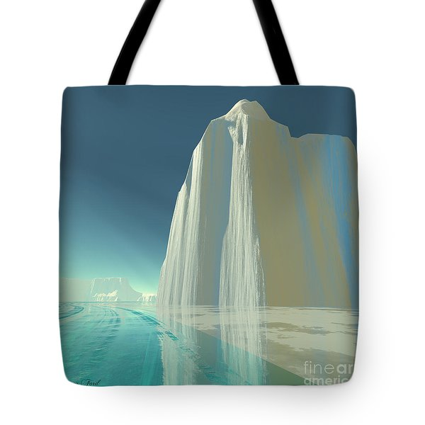 Winter Crystal Tote Bag by Corey Ford