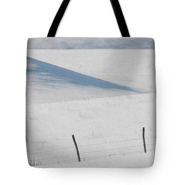 Winter day on the Prairies Tote Bag by Mark Duffy