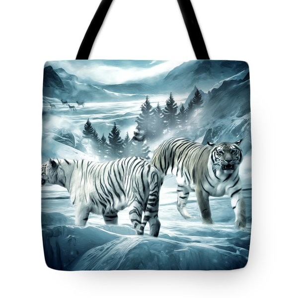 Winter Deuces Tote Bag by Lourry Legarde