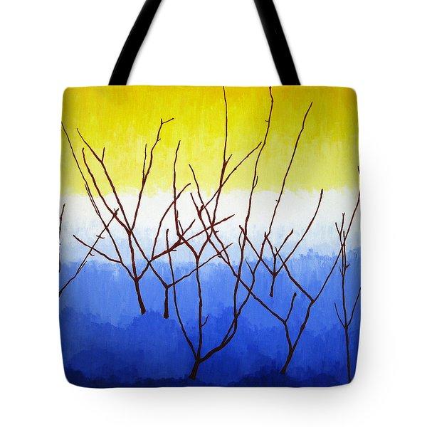 Winter Dogwood Tote Bag by Oliver Johnston