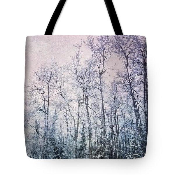 winter forest Tote Bag by Priska Wettstein