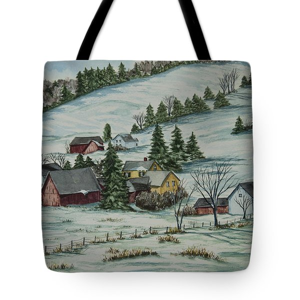 Winter In East Chatham Vermont Tote Bag by Charlotte Blanchard