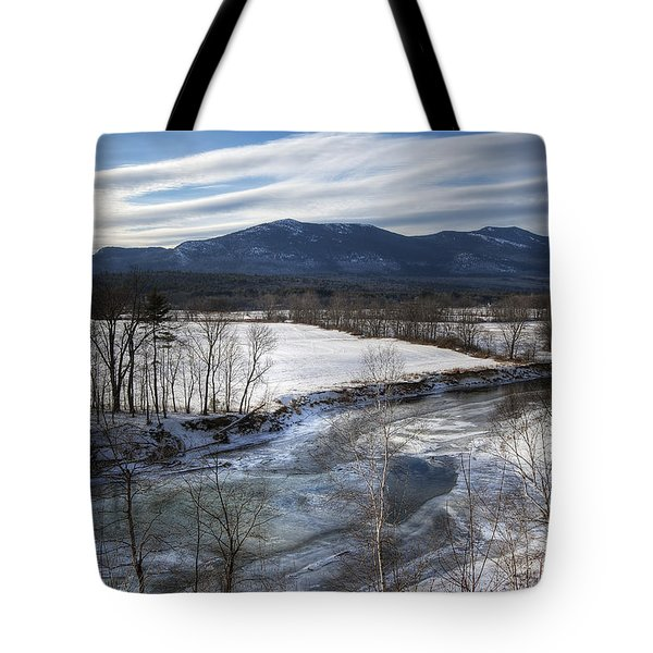 Winter In North Conway Tote Bag by Eric Gendron