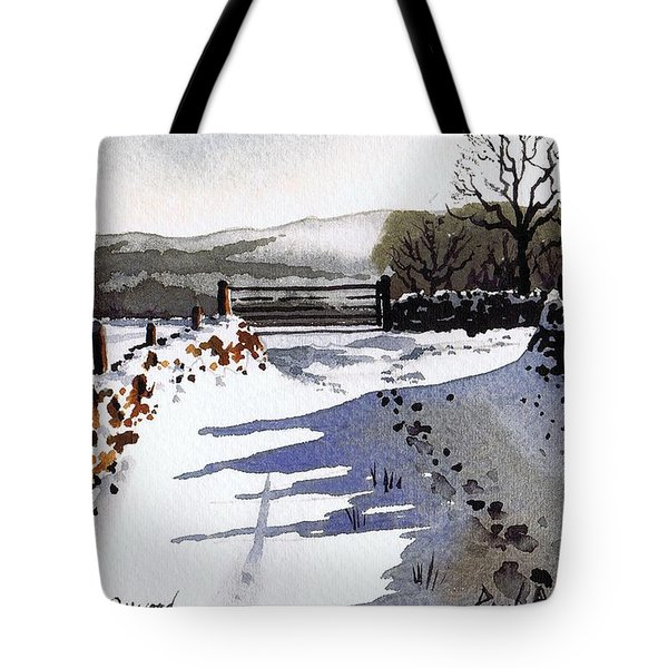 Winter Lane sowood Tote Bag by Paul Dene Marlor