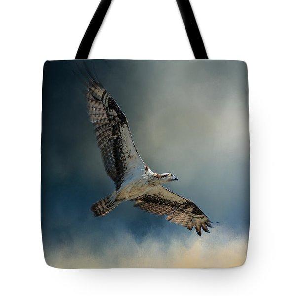 Winter Osprey Tote Bag by Jai Johnson