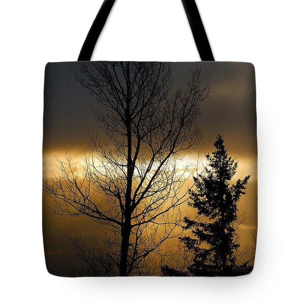 Winter Sunrise 2 Tote Bag by Sebastian Musial