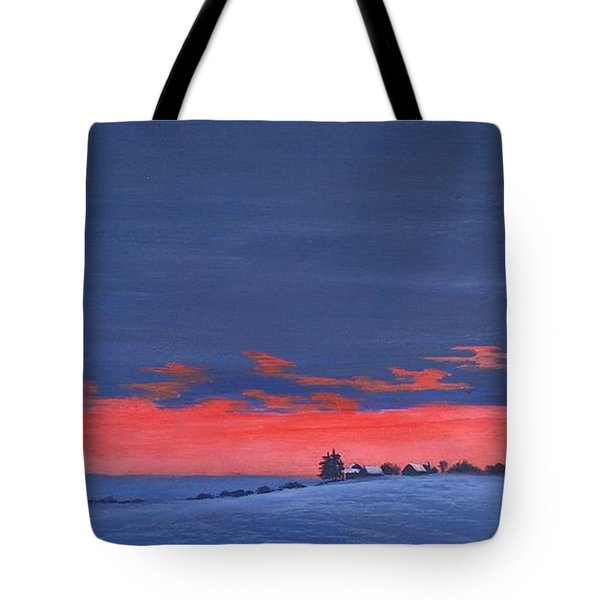 Winter Sunset Tote Bag by Denise   Hoff