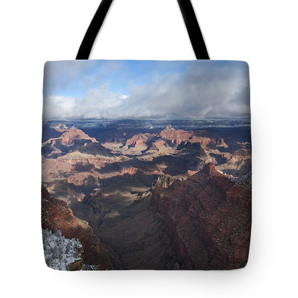 Winter's Grasp At The Grand Canyon Tote Bag by Sandra Bronstein