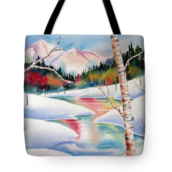 Winter's Light Tote Bag by Deborah Ronglien