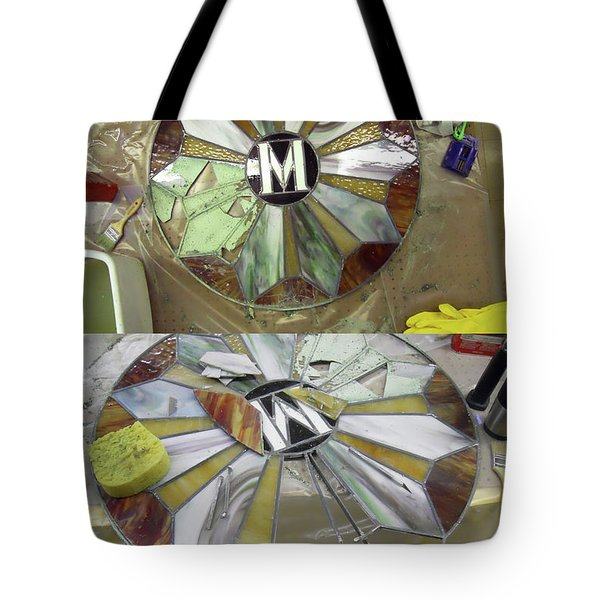 Wip-stain Glass Tote Bag by Cindy D Chinn