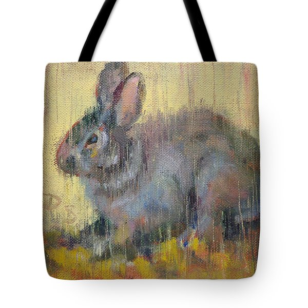 Wise Rabbit Tote Bag by Donna Shortt