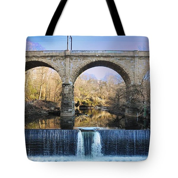 Wissahickon Viaduct Tote Bag by Bill Cannon