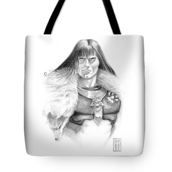 Wolf Barbarian Tote Bag by Melissa A Benson